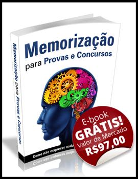 Ebook Memorização para Provas e Concursos