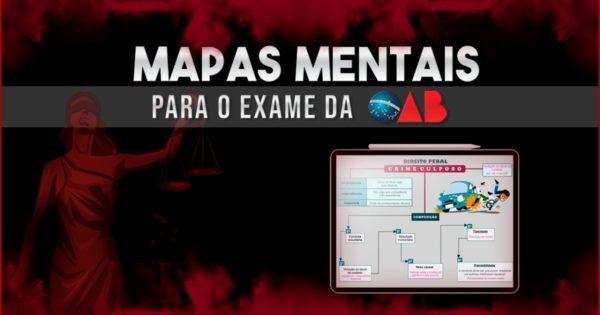 Mapas Mentais para OAB 2021 do Tá Tudo Mapeado