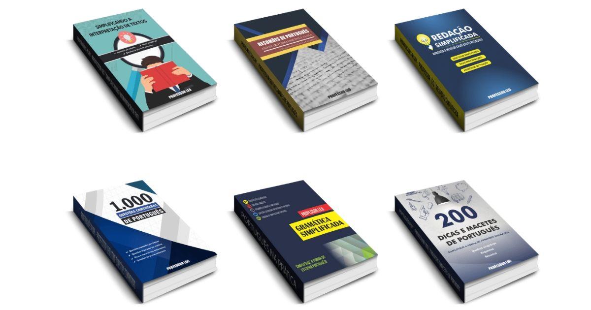 Coletânea com 6 e-books de Português