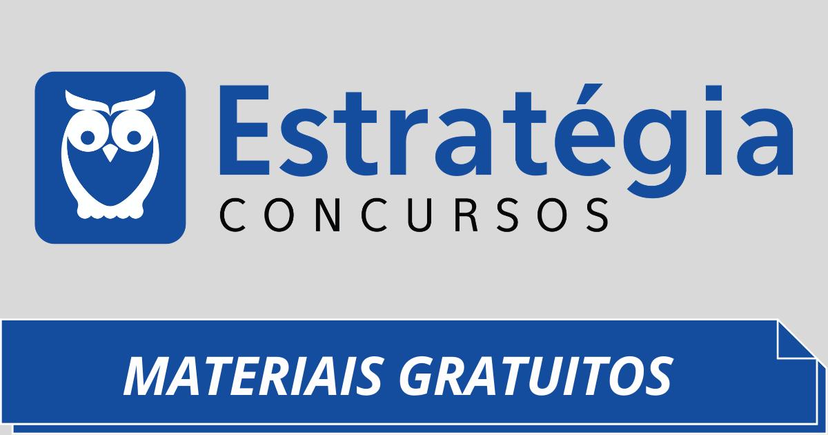 You are currently viewing Materiais Gratuitos do Estratégia Concursos: Confira Aqui