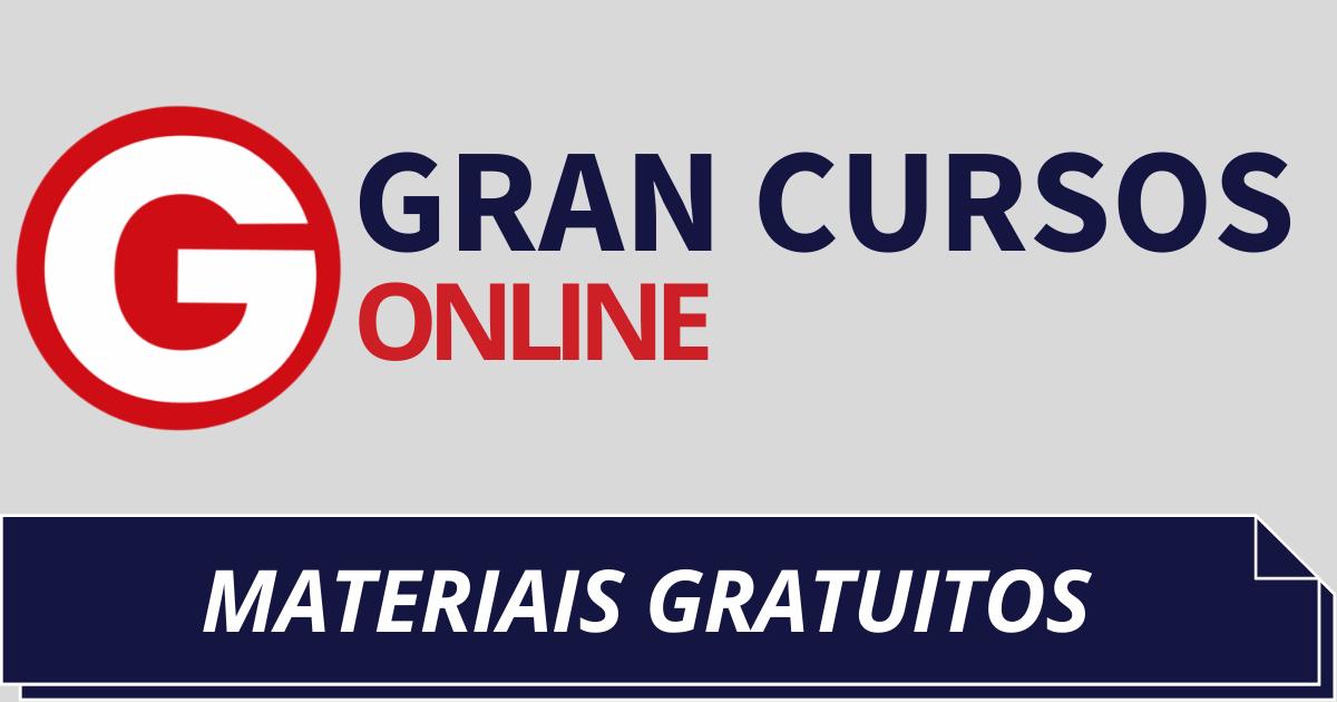 You are currently viewing Materiais Gratuitos do Gran Cursos: Confira Aqui